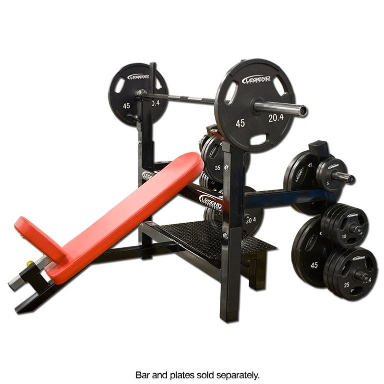 olympic incline bench with plate storage